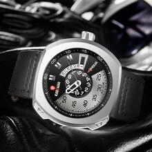 Original Sport Men Watch Military Quartz Square TOP Quality KADEMAN Casual Leather Wristwatch Brand Male Relogio Masculino