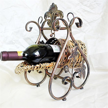 European wicker wine racks New Royal wine Holder Home Bar Stand Red wine glass holder Hotel Party Accessories Metal barrel wine