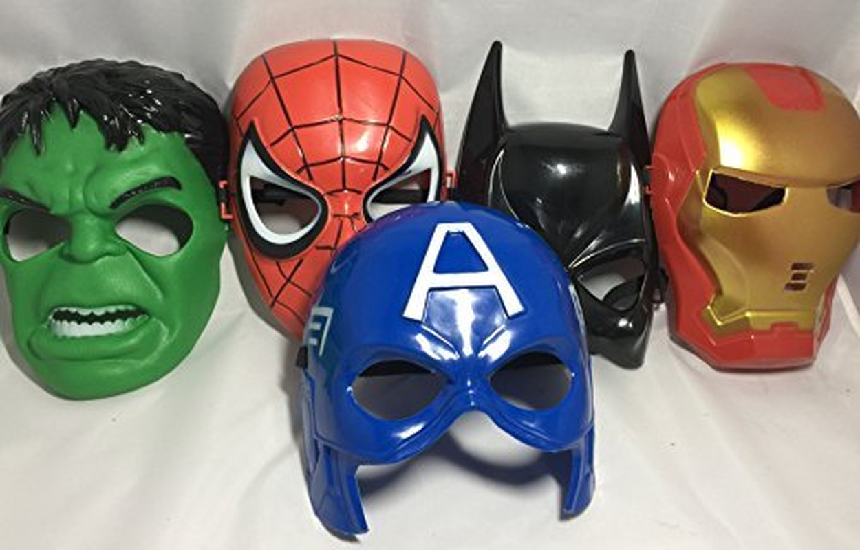 The Avengers Mask Batman Mask Superhero Masks Kids Spiderman Iron Man Hulk Cartoon Party Mask For Children's Day Cosplay