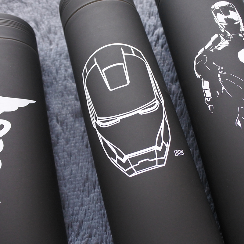 OUSSIRRO Iron Man Avenger Super Hero Stainless Steel Thermos Cup Originality Portable Water Bottle