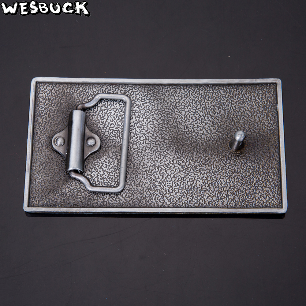 WesBuck Brand Retail New styles Star Wars belt buckle Rectangle Silver For 4cm 1 57in Wide metal cowboy Belt head Fit 4cm Wide in Buckles Hooks from Home Garden