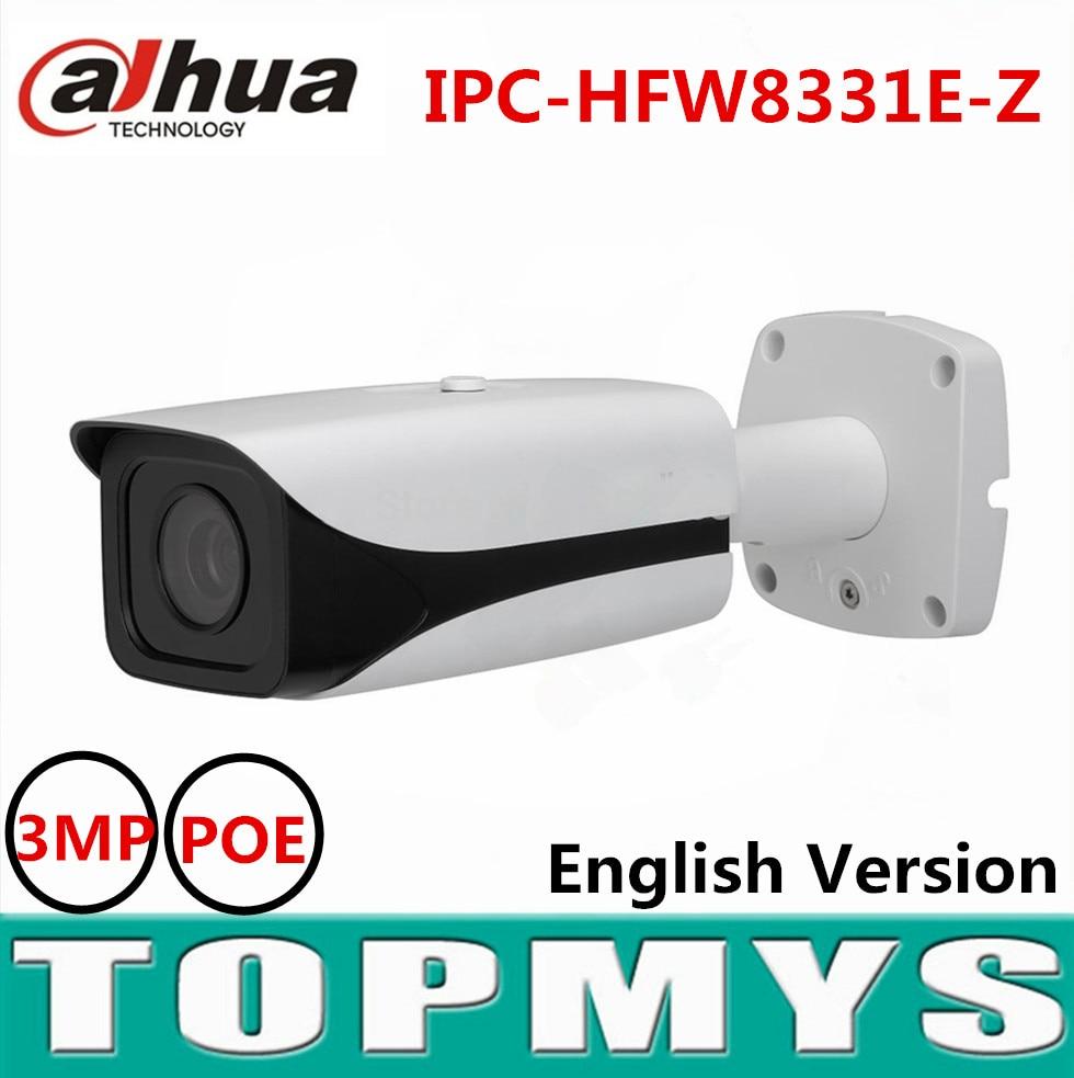 Dahua motorized focal lens 2.7mm to 12mm IP camera IPC-HFW8331E-Z Full HD 3MP POE CCTV camera IR 50M Smart Network ip camera dahua motorized lens 2 7mm to 12mm ip camera ipc hfw2320r zs 3mp poe cctv ip camera ir 30m day night vision security ip camera