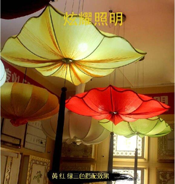 Chinese Southeast Asian modern fabric lotus chandelier marine ...