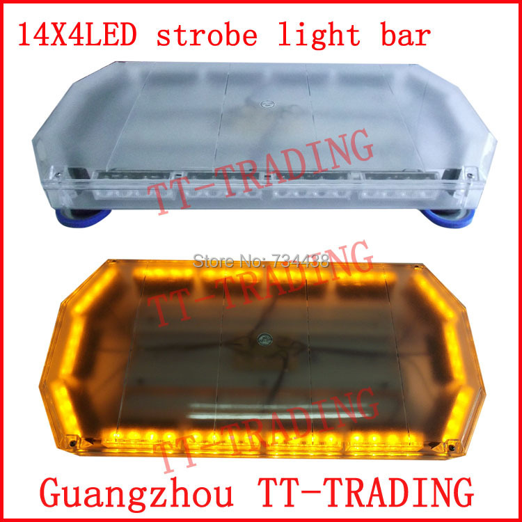 Police strobe light 56LED strobe lights Emergency Warning lights bar led strobe beacon with magnet RED BLUE WHITE AMBER DC12V car strobe light bar 30 led flash lights police warning lights emergency strobe lights dc 12v 75cm 29inch red blue white amber