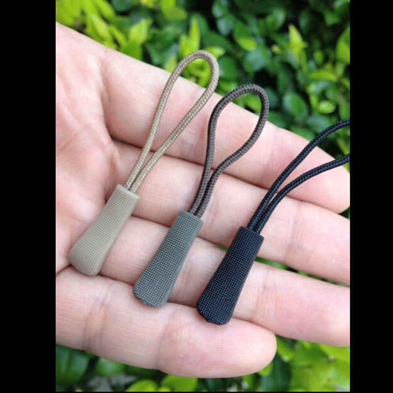 5 шт. простая в использовании черная пластиковая застежка-молния шнур веревка концы замок молния зажим Пряжка для сумки аксессуары