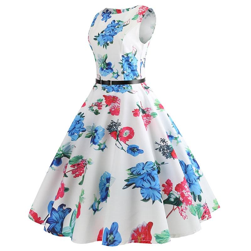 Blue Vintage Swing Dress 11