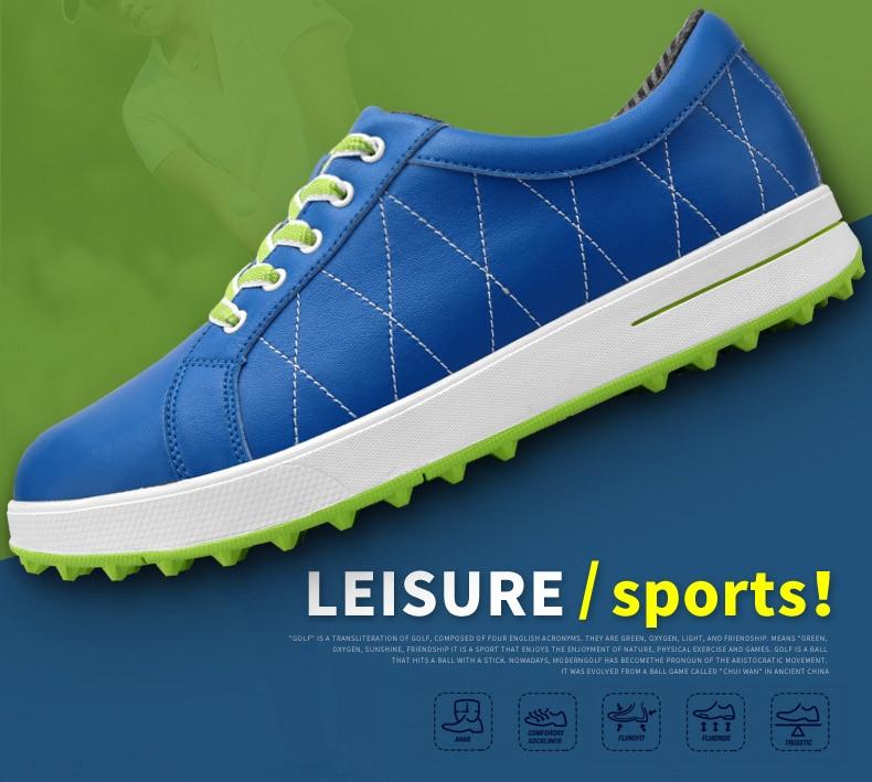 Pgm novas mulheres sapatos de golfe conforto