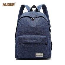 Купить с кэшбэком AUGUR Fashion School Backpack Women Schoolbag Back Pack Leisure Ladies Backpack Laptop Travel Bags for Teenage Girls Boy