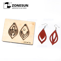 ZONESUN T10 Custom Cut Out Leather Earring Cutting Die Steel Rule Die Leather Tools For Die Cutting Machine Press