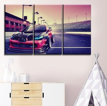 Home Decor On Canvas Printing Type Painting Wall Art Framework 3 Panel Vehicles Subaru Impreza Sport Car Poster Modern Artwork