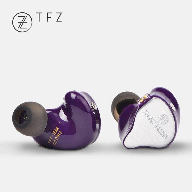 Deluxe Cadeau de OSTRY + 2018 TFZ SECRET JARDIN HiFi HD Voiture Dynamique In-Ear écouteurs avec 2Pin/0.78mm amovible IEM Riche Basse