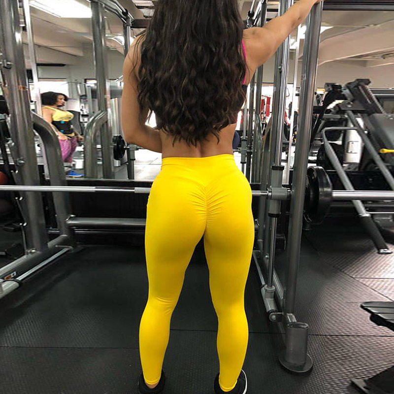 2020 Women Leggings Polyester High Quality High Waist Push Up Legging Elastic Casual Workout Fitness Sexy Bodybuilding Pants 5