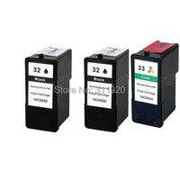 3 Multi Pack Ink Cartridge For Lexmark 32 33 X5270 X5470 X7170 X7350 X8350 Z816
