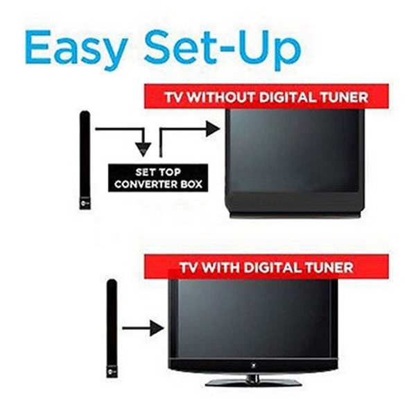 1080p Clear TV Key HDTV 100 Free HD TVs Digital Indoor Mini Ditch Cable Hot