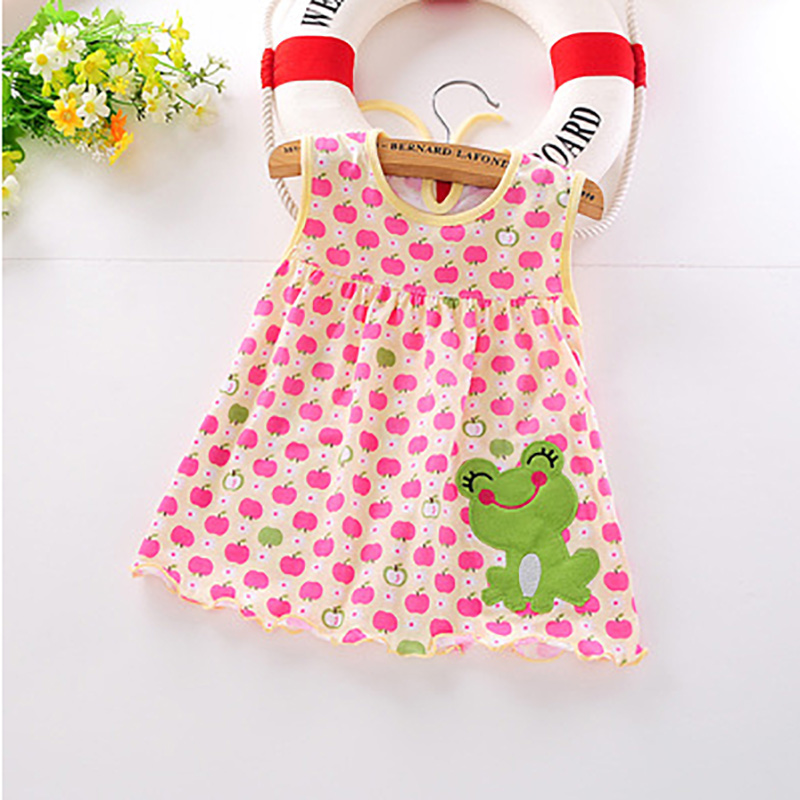 Monkids 2017 New Style Baby Girl Dress Princess for Infant Summer Multicolor Stripes Baby Girl Dresses Newborn Girls