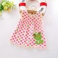 Monkids 2017 nuevo estilo baby girl dress princesa de verano infantil multicolor rayas bebé vestidos de niña de las niñas recién nacidas