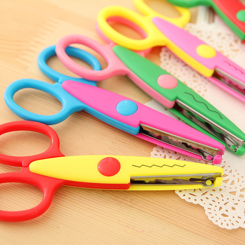 6 Pcs/lot DIY Craft Scissors Wave Edge Craft School Scissors For Paper Border Cutter Scrapbooking Handmade Kids Artwork Card