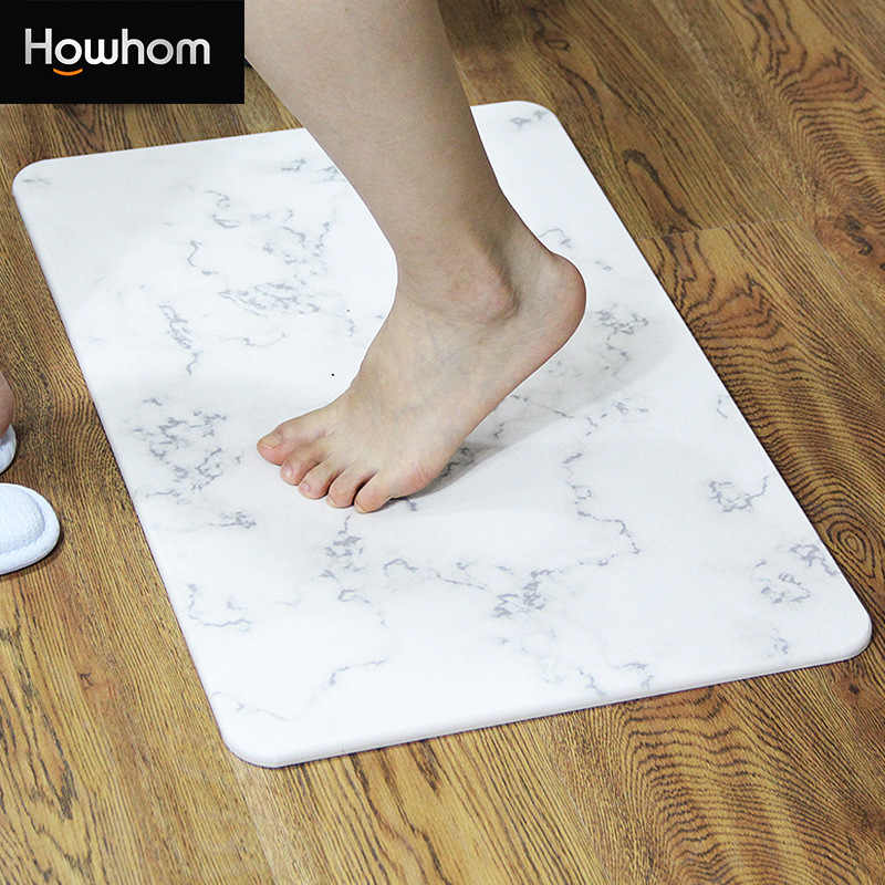 316Natural Diatom Mud Foot Mat Bathroom Anti-slip Mat Bathroom Absorbent Mats Bathroom Door Mat Diatomite Absorbent Pad 40*30