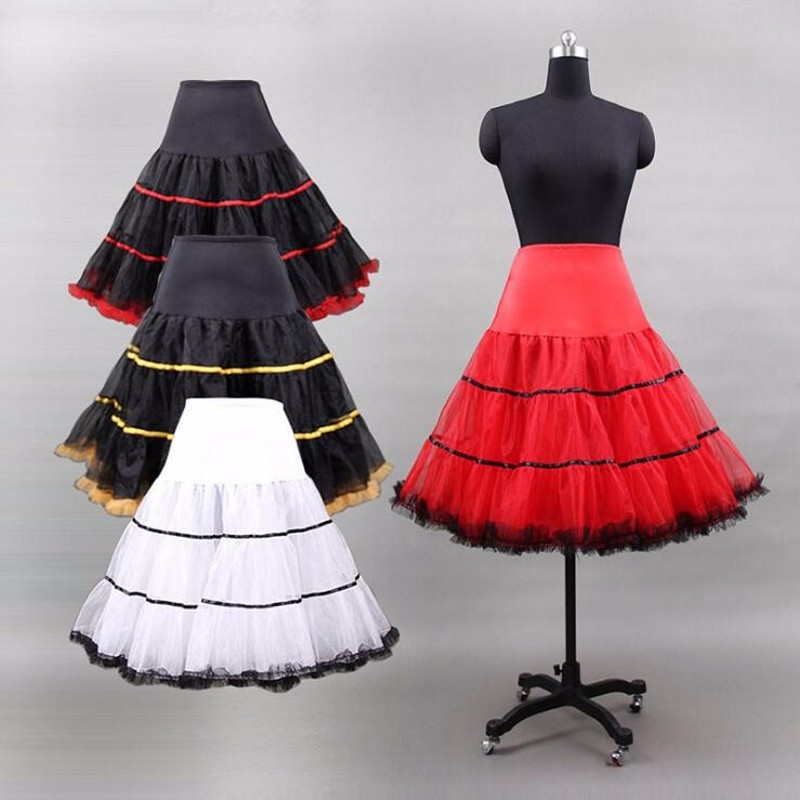 2019 Short Organza Halloween Petticoat Crinoline Petticoat for Wedding Dresses Underskirt Rockabilly Tutu