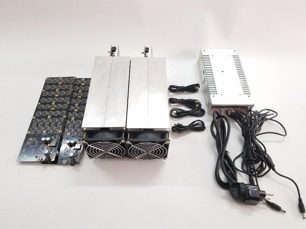 Verwendet Gridseed miner 5.2MH/S x 2 stücke ein satz Litecoin bergbau maschine zwei stücke gridseed klinge ein set mit die power versorgung