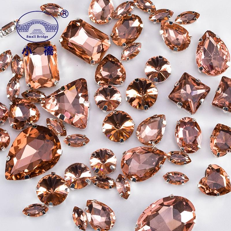 2d5aa58f21 ᗚHigh Quality Crystal Sew On Rhinestone Mixed Size Loose Diy ...