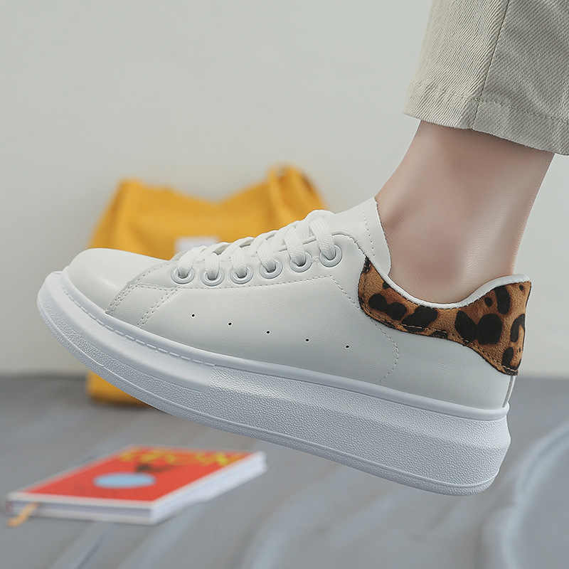 2020 New Spring Tenis Feminino Lace up White Shoes Woman PU