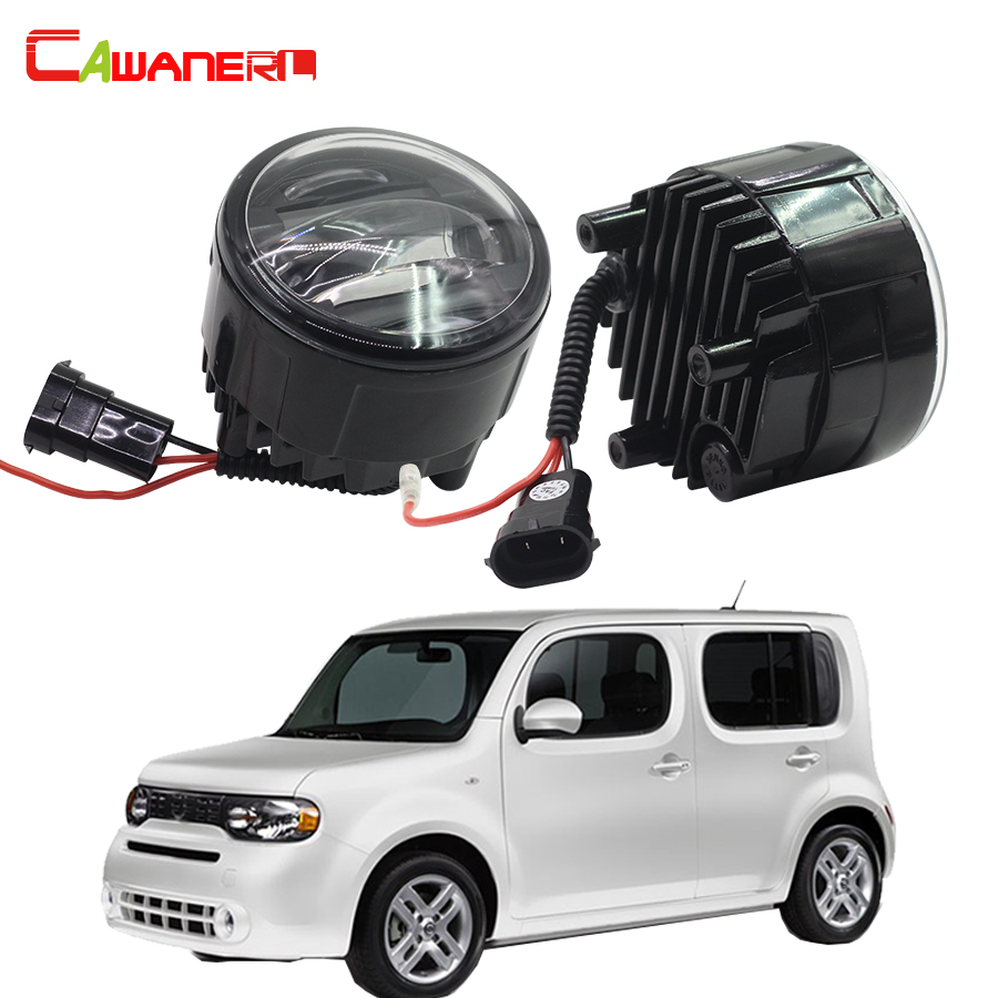 Cawanerl 2 Pieces Car Accessories LED DRL Daytime Running Lamp Fog Light For Nissan Cube Z12 Hatchback 2010 Onwards cawanerl 2 x car led fog light drl daytime running lamp accessories for nissan note e11 mpv 2006