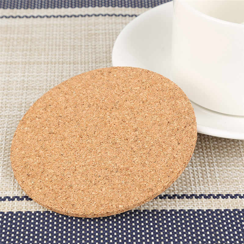 9CM Table Mat Bowl Placemat for dining table Natural Cork Coffee Tea Cup Coaster Drinks Wine Pad Home kitchen accessories aid