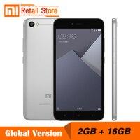 Global Version Xiaomi Redmi Note 5A 2GB RAM 16GB ROM Cellphone Note 5 A Snapdragon 425 Quad Core CPU Smartphone 5.5 Inch 13.0MP
