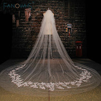 White Stunning Cathedral Wedding Veil Applique Long Bridal Veils Wedding Accessories