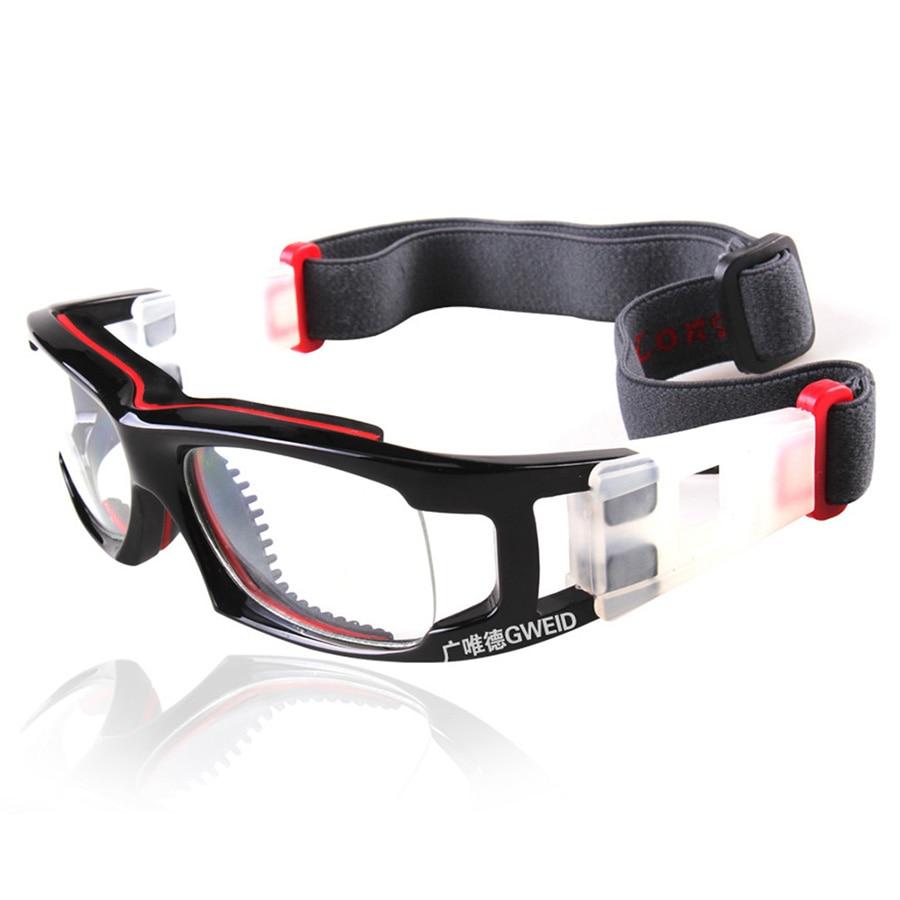 Sports frames for eyeglasses - New Hot Basketball Protective Goggles Pc Lens Outdoor Sports Football Ski Glasses Myopia Prescription Lenses Male