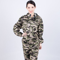 New Work jumpsuit With Caps Conjoined Camouflage Plus Fertilizer Clothing Auto Repair Welding Spray Paint Women and Men Overalls