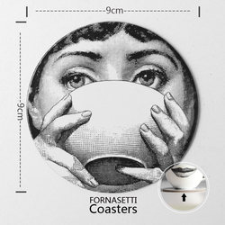 Christmas Gift Ornaments Fornasetti Coasters Insulation Mat Wood Pad Coffee  MDF   (1-39)
