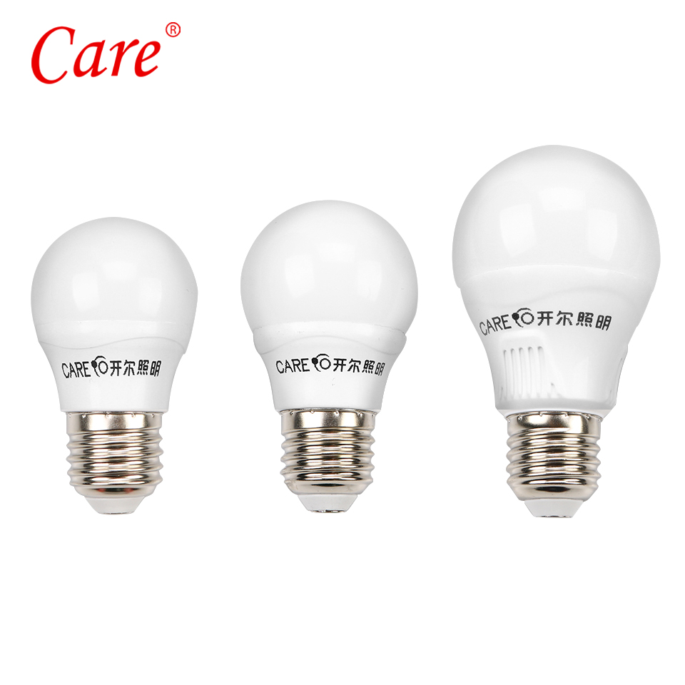 Care Globe LED Light Bulb 3W 5W 7W 9W 10W 11W e14 e27 LED Lighting Light Lamp Bulbs 6500K 4000K 3000K and Three Colors Dimmable led gold deco chandelier bulbs candle light e14 85 265v 5w lamps