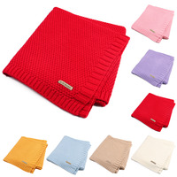 Soft Newborn Baby Blanket Infant Cotton Knitted Crochet Blankets Swaddle WrapStretch Crib Sleeping Bedding For
