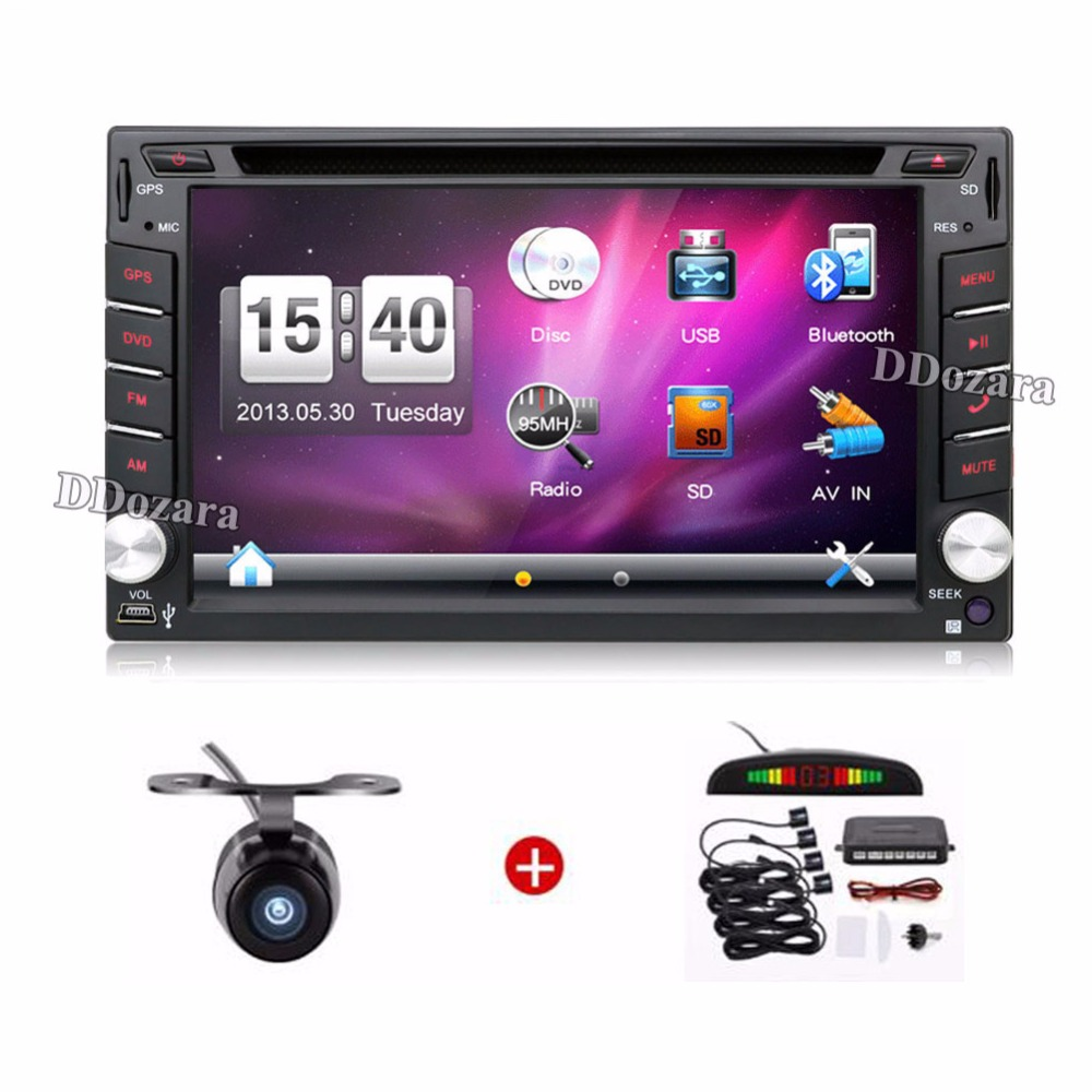 Universal Car Radio Double 2 din Car DVD Player GPS Navigation In dash Car PC Stereo video Map+Free Camera+Free Parking Sensor