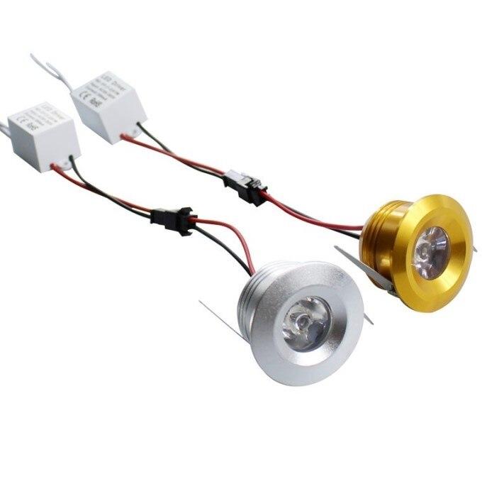 1W 3W Mini Led Cabinet Lamps Mini led downlight AC85-265V led Spot light lamp include led driver For Kitchen Wardrobe