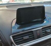 Lapetus For Mazda 3 AXELA Sedan Hatchback 2017 2018 ABS Dash Board Navigation GPS Display Screen Decoration Frame Cover Trim