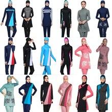 9e2303cb290 Plus Size Muslim Swimwear Women Modest Floral Print Full Cover Swimsuit  Islamic Hijab Islam Burkinis Beachwear