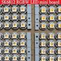 Addressable SK6812 RGBW mini Board RGB warm white Cool White Neutral White WWA heatsink 5050 RGB LED pixels 5V similar WS2812B