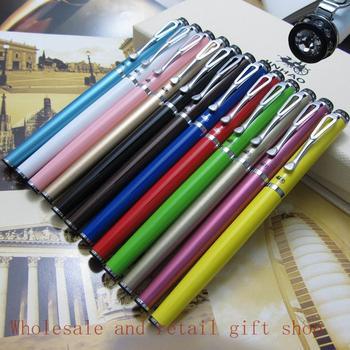 Foreign trade 12-color/lot Wholesale Jinhao 301 Roller Ball Pen Silver CliP Diamond pen top metal Gift pen New