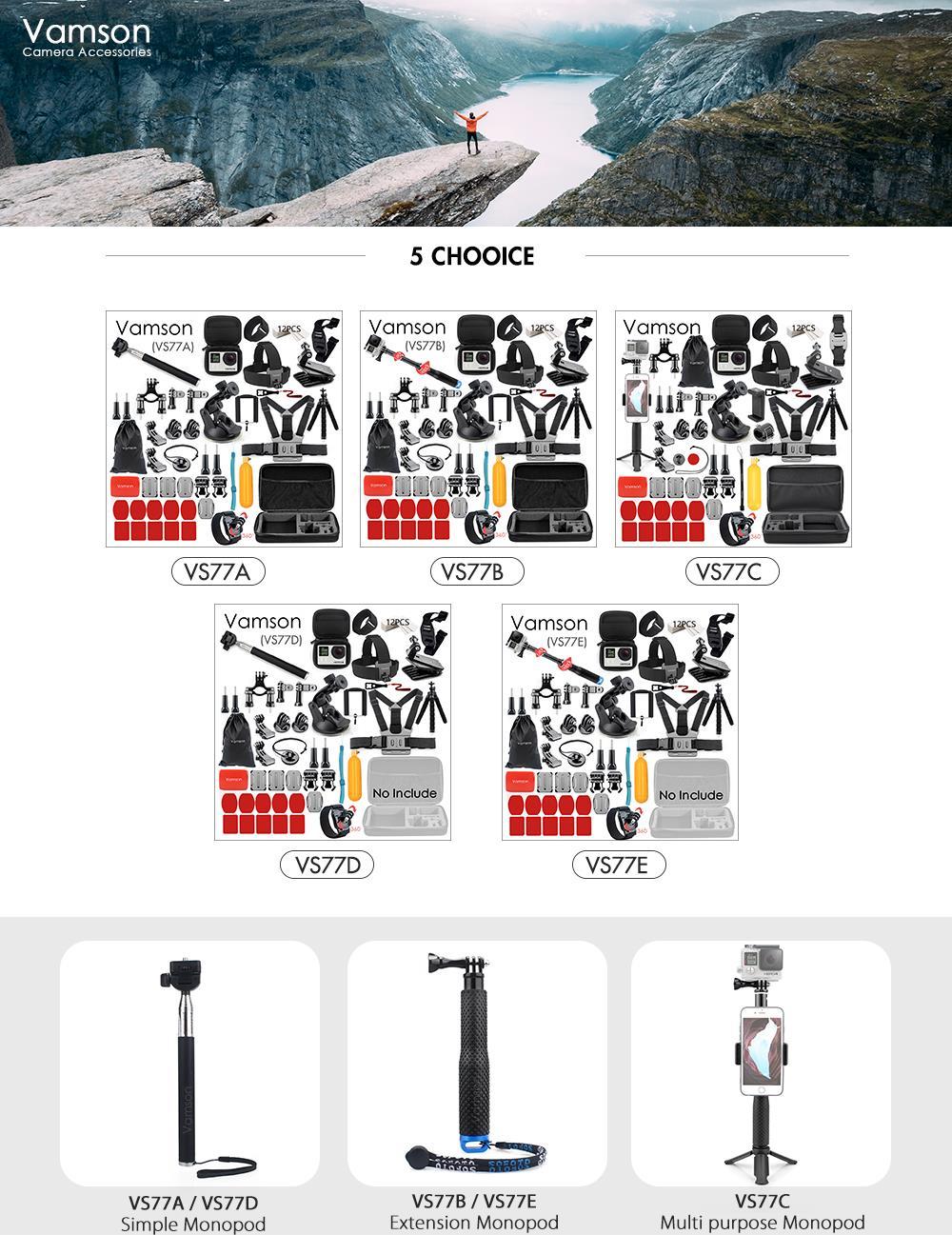 action camera Vamson Gopro Camera Accessories HTB1qHTMXovrK1RjSszfq6xJNVXa5