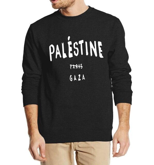 4aa1beff633 Личность Мужчины Кофты Газе Палестины не принадлежит в Париж 2016 осень  зима человек толстовки вскользь тонкой