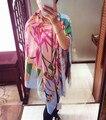 Шелковый Бауайния Цветок Платки Тотем Муслин Одеяло Шарф Теплая Зима Атласа Саржевого Платки И Шарфы 130*130 см