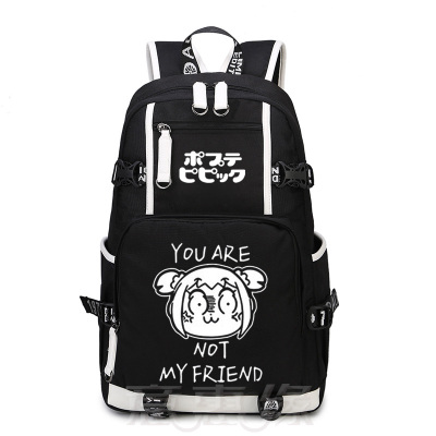POP TEAM EPIC Backpack Anime Cosplay Nylon Luminous School Bag Travel Bags