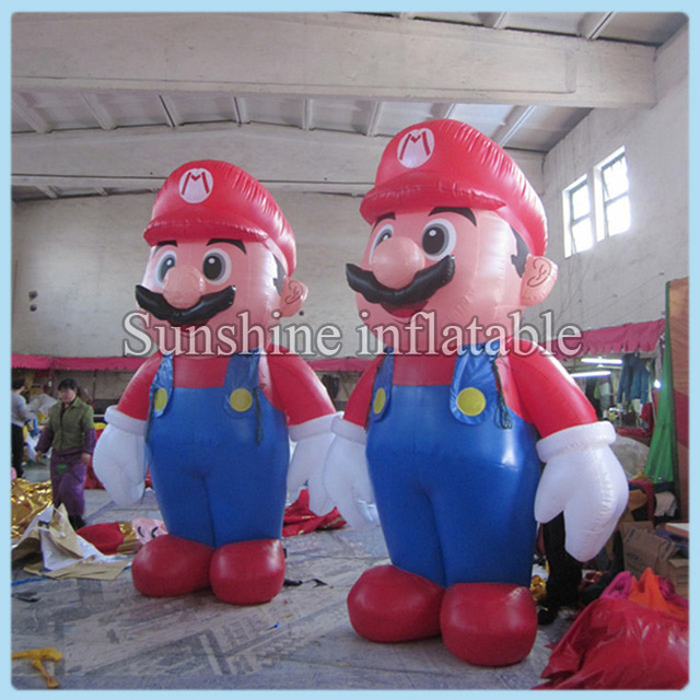 10ft Giant Inflatable Super Mario Inflatable Mario For Christmas Party Decoration Customized Inflatable Cartoon In Party Diy Decorations From Home