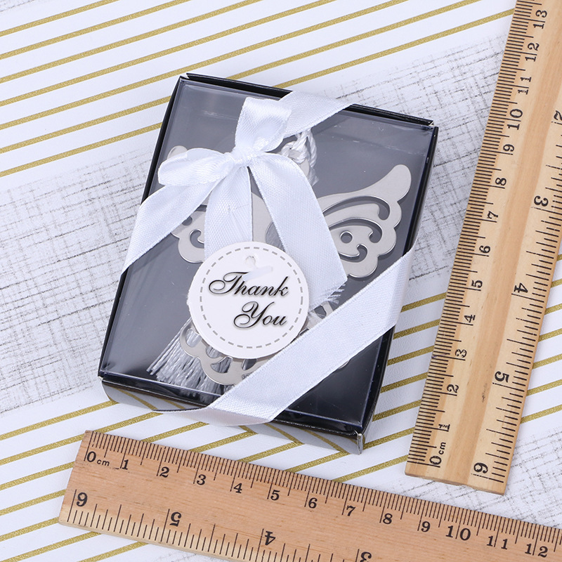 angel Silver Bookmark For Baptism Baby Shower Souvenirs Party Christening Giveaway Gift Wedding Favors and Gifts For Guest