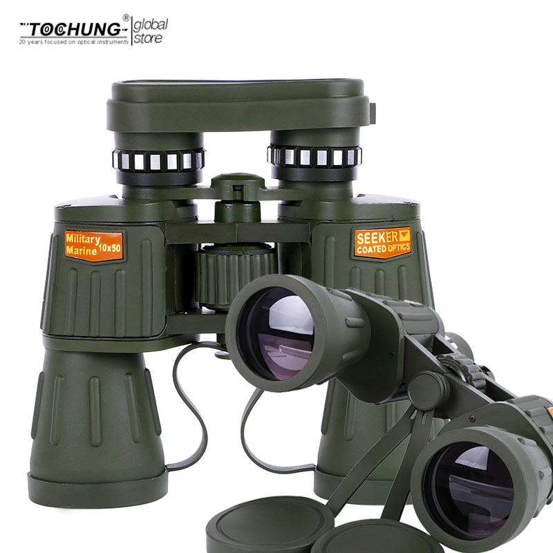 TOCHUNG Hd 10X50 powerful zoom Binoculars telescope for hunting professional high quality no Infrared army binoculars powerful telescopio military hd 8x40 binoculars professional hunting telescope zoom high quality vision no infrared eyepiece new