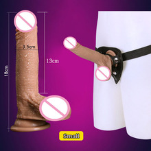 New Strap On Dildo Pants Artificial Realistic Penis Lesbian Sex Toys For Woman Strapless Strapon Panties Silicone Dildos Dick