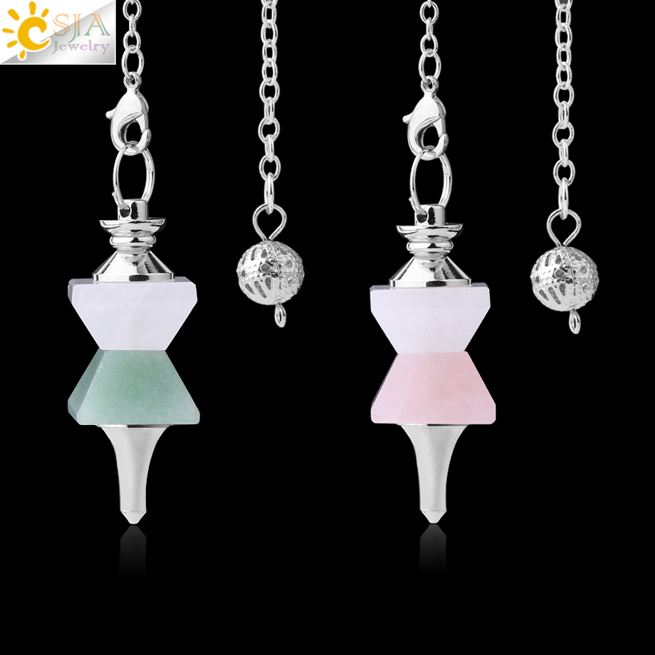 Jewelry & Accessories Qilmily Natural Stone Swing Dowsing Pendulum Funnel Shaped Symmetry Splice Pyramid Healing Pendant Wicca Pendule For Women Men